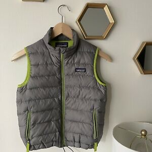 Patagonia Down Puffer Vest Jacket Boys Kids Youth  XSmall Full Zip