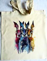 ECO Unique Tote Handmade Hare Shopping Bag Designed by Uk Artist Maria Moss