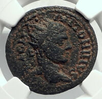 ELAGABALUS Authentic Ancient EMESA Olympic-style PRIZE URN Roman Coin NGC i77407