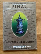1972-FA CUP FINAL PROGRAMME - ARSENAL V LEEDS UNITED-06/05/72 VGC