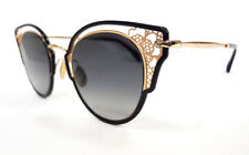 JIMMY CHOO Women's Sunglasses DHELIA/S 2M2 Black/Gold 145 MADE IN ITALY - New!