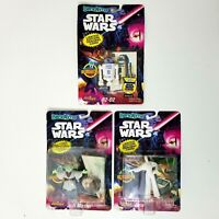 Lot of 3 - Star Wars BendEms Figures Yoda R2-D2 Princess Leia 1993 Just Toys
