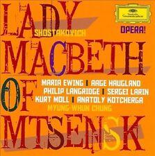 SHOSTAKOVICH Lady Macbeth Of Mtsensk 2CD NEW Ewing Haugland Langridge Chung
