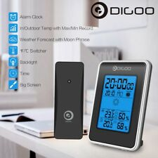 Digoo Weather Station Temperature Humidity Meter Outdoor Forecast Sensor Clock