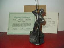 Franklin Mint The American People Collection The Canal Boat Man Pewter Figure