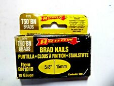 "Arrow BN1810 Brad Nails T50 5/8"" 18 Gauge pack of 5 New"