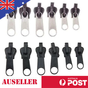6 x Zippers Fix Repair Kit Replacement Zip Slider Brown Black Zipper Sewing Zip