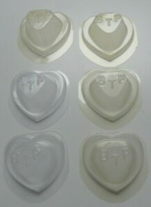 SET of 6 TY BEANIE BABY HEART SHAPED SEATS for CASES - RARE!! PLEASE READ