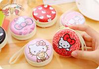 2PC Hello Kitty Mini Coin Purse Headphone Bag Portable KeyRing Key Chains Gift