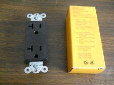 New Hubbell 2P 3-Wire Black Duplex Receptacle, 20A, 125V, NEMA 5-20R, HBL2162BK