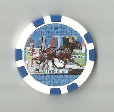 **MATT'S SCOOTER**  HORSE OF THE YEAR 1989 HARNESS  HORSE RACING COLLECTOR CHIP