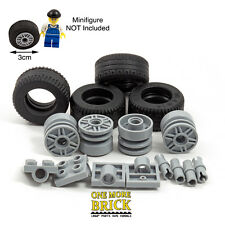 LEGO Large Tire Pack of 4 - Big thick tyres & wheels (3cm) with Axles