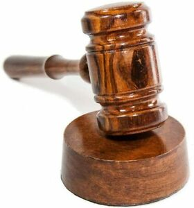Gavel and Sound Round Block Handcrafted Walnut Wood - For Judge, Lawyer, Student