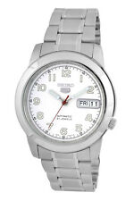 SEIKO Automatic SNKK33 SNKK33K1 Men Day Date White Dial Stainless Steel Watch