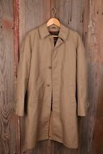 Cal Craft Brown Men's Vintage Trench Coat Jacket Lined