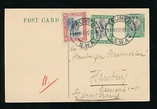 SOUTH WEST AFRICA 1932 SPRINGBOK STATIONERY SWA + 1/2d + 1d...TSUMEB to HAMBURG