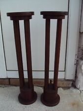 Pair of pedestals, Art Deco, Adolf Loos design 1925