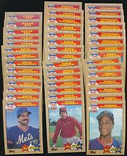(95) 1987 Topps All-Star Lot Cal Ripken Jr. Mike Schmidt Kirby Puckett