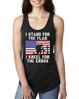 I Stand For The Flag I Kneel For The Cross Patriotic Military Women's Tank Top