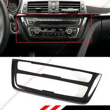 FOR 2014-2018 BMW M3 M4 CD AC CONSOLE CONTROL PANEL CARBON FIBER TRIM HARD COVER
