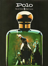 Publicité Advertising 1986  Parfum POLO de RALPH LAUREN eau de toilette ...