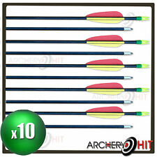 "10 x FIBREGLASS 29"" ARROWS FOR JUNIOR LONG BOWS, RECURVE BOWS AND COMPOUND BOWS"