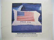 New Vintage Ralph Lauren Polo USA Flag All Cotton Standard Pillowcase –Irregular