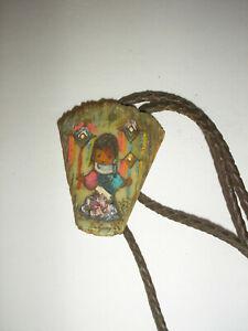 Vintage DeGrazia Bolo Tie - Signed Jama