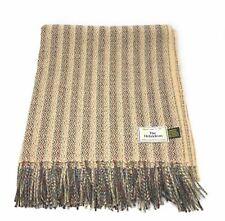 100% Recycled Lambswool Hebridean Rug/Blanket/Throw Cream
