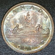1965 CANADA $1 DOLLAR - SILVER - Elizabeth II - Gorgeous Rainbow Tone -From ROLL