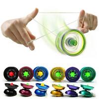 Cool Aluminum Design Professional YoYo Ball Bearing String Trick Alloy Kids  Jf