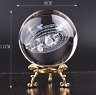 8cm 3D Laser Engraved Galaxy Glass Ball Quartz Crystal Miniatures Home Decor