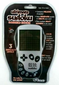 Senario Ultimate Sudoku Handheld Edition Game 3 Difficulty Levels Sealed NOS