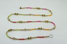 Multicolour Crystal Round Gold Beaded Chain/Garland/Ladi/Toran/Door-Wall Hanging