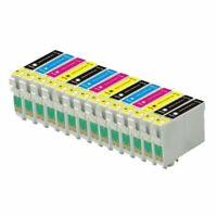 ECS Lot de 14 cartouches d'encre (T0615/T0611/T0612/T0613/T0614) pour Epson Styl