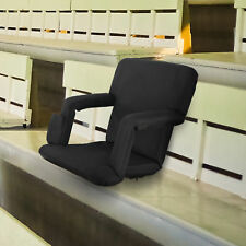 Black Wide Stadium Seats Chairs for Bleachers or Benches - 5 Reclining Positions