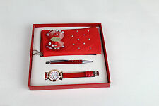 Girls Watch ,Soft Small Purse & pen Red Gift Set For Girls