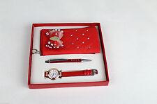 Le Ragazze Orologio, morbida piccola borsa & Penna Red Gift Set per Ragazze