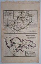 1732 Herman Moll Map Saint Helena & Bay of Agoa de Saldhana Saldanhabaai Mapa+++