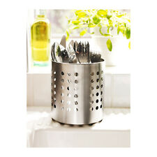 IKEA ORDNING STAINLESS STEEL CUTLERY UTENSILS STAND HOLDER DRAINER