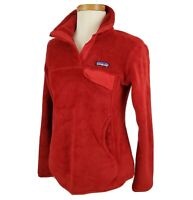 Patagonia Pullover 1/4 Snap Re-Tool Polartec Fleece Jacket Small Cranberry Red