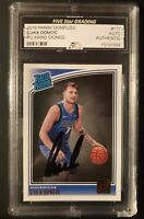 LUKA DONCIC 2018 PANINI DONRUSS RC #177 HAND SIGNED - FIVE STAR GRADING