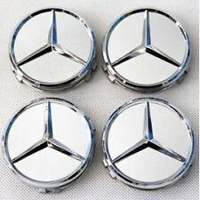 4Logo Emblème Mercedes Jante Cache Moyeu Centre De Roue Insigne Gris 75mm.