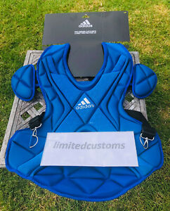 """Adidas Pro Series 2.0 Catcher's Chest Protector 17"""" Baseball New S99091 Blue"""