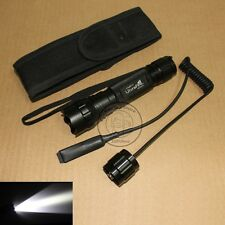 UltraFire Tactical 501B CREE R5 LED 1Mode Flashlight Torch + Remote Switch Set