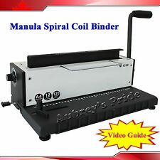 New All Steel Metal Spiral Coil 34Holes Punching Binding Machine Binder Puncher