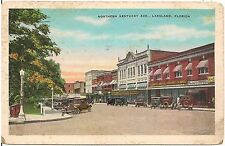 Northern Kentucky Avenue in Lakeland FL Postcard 1935
