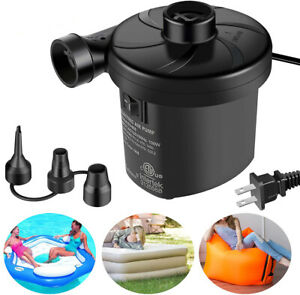 Air Pump Power Inflator Blower Electric Pool Bed Paddling Mattress For Car Boat