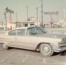 Vintage 1950's Color Photo - Classic Car (Chrysler, Plymouth) Gas Station #594