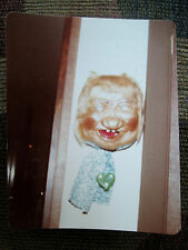 Vtg 80s Photo of Creepy Laughing Old Lady/Hag/Witch Wall Haloween Decoration B67